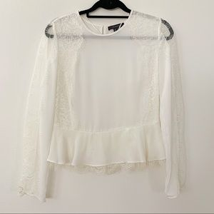 Primark Lace Sleeve Blouse